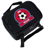 Personalised Claret and Blue Football Fan Lunch Bag - Personalise It!