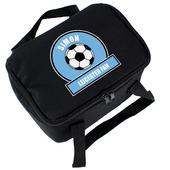 Personalised Sky Blue Football Fan Lunch Bag - Personalise It!