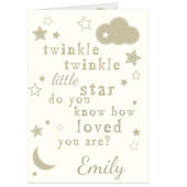 Personalised Twinkle Twinkle Card Add Any Name - Personalise It!