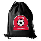 Personalised Red Football Fan Swim & Kit Bag - Personalise It!
