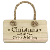 Personalised Christmas Wooden Sign - Personalise It!