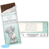 Personalised Me To You Male Wedding Milk Chocolate Bar - Personalise It!