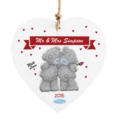 Personalised Me to You Couple Wooden Heart Decoration - Personalise It!