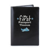 Personalised My First Black Passport Holder - Personalise It!