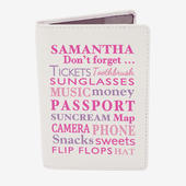 Personalised Dont Forget Cream Passport Holder - Personalise It!