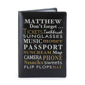 Personalised Dont Forget... Black Passport Holder - Personalise It!
