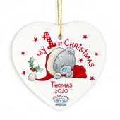Personalised Me to You My 1st Christmas Ceramic Heart Decoration - Personalise It!