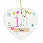 Personalised Birthday Craft Ceramic Heart - Personalise It!