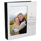 Personalised Decorative Silver Anniversary 4x6 Photo Frame Album - Personalise It!