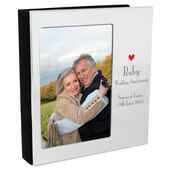 Personalised Decorative Ruby Anniversary 4x6 Photo Frame Album - Personalise It!