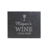 Personalised Wine Goes Here... Single Slate Coaster - Personalise It!