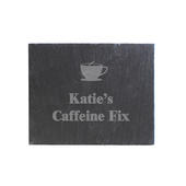Personalised Hot Drink Motif Single Slate Coaster - Personalise It!