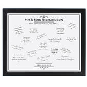 Personalised Occasion Black Signing Framed Print - Personalise It!