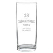 Personalised Birthday Star Hi Ball Glass - Personalise It!