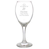 Personalised Birthday Craft Wine Glass - Personalise It!