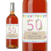 Personalised Birthday Craft Rose Wine - Personalise It!