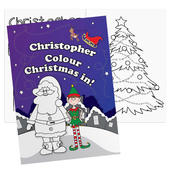Personalised Its Christmas Elf Colouring Book - Personalise It!