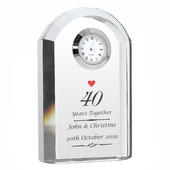 Personalised Ruby Anniversary Crystal Clock - Personalise It!