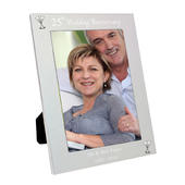 Personalised Silver 5x7 25th Wedding Anniversary Photo Frame - Personalise It!