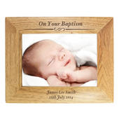 Personalised Formal 7x5 Landscape Wooden Photo Frame - Personalise It!