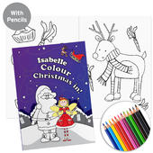 Personalised 'It's Christmas' Fairy Colouring Book with Pencil Crayons - Personalise It!
