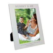 Personalised Silver 5x7 Mummy & Me Photo Frame - Personalise It!