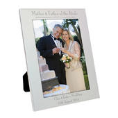 Personalised Silver 5x7 Decorative Mother & Father of the Bride Photo Frame - Personalise It!