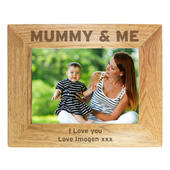 Personalised Mummy & Me 7x5 Landscape Wooden Photo Frame - Personalise It!
