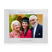 Personalised Silver 7x5 Landscape Photo Frame - Personalise It!