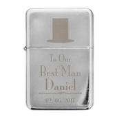 Personalised Decorative Wedding Best Man Lighter - Personalise It!