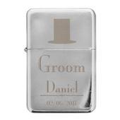 Personalised Decorative Wedding Groom Lighter - Personalise It!