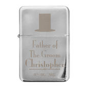 Personalised Decorative Wedding Father of the Groom Lighter - Personalise It!