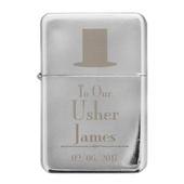 Personalised Decorative Wedding Usher Lighter - Personalise It!