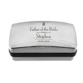 Personalised Decorative Wedding Father of the Bride Cufflink Box - Personalise It!