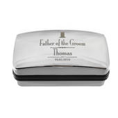 Personalised Decorative Wedding father of the Groom Cufflink Box - Personalise It!