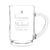 Personalised Decorative Wedding Groom Tankard - Personalise It!