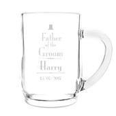Personalised Decorative Wedding Father of the Groom Tankard - Personalise It!