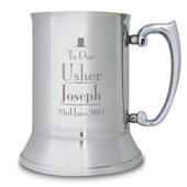 Personalised Decorative Wedding Usher Stainless Steel Tankard - Personalise It!