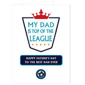 Personalised Top of the League Card Add Any Name - Personalise It!