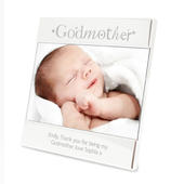 Personalised Silver Godmother Square 6x4 Photo Frame - Personalise It!