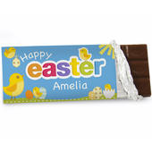 Personalised Easter Chick Milk Chocolate Bar - Personalise It!