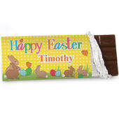 Personalised Easter Bunny Milk Chocolate Bar - Personalise It!
