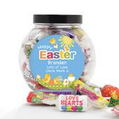 Personalised Easter Chick Sweet Jar - Personalise It!
