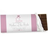 Personalised Decorative Wedding Female Milk Chocolate Bar - Personalise It!