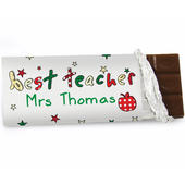 Personalised Teacher Milk Chocolate Bar - Personalise It!