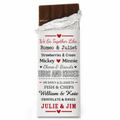 Personalised We Go Together Like.... Milk Chocolate Bar - Personalise It!