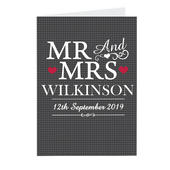 Personalised Mr & Mrs Card Add Any Name - Personalise It!