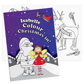 Personalised 'It's Christmas' Fairy Colouring Book - Personalise It!