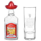 Personalised Tequila Shot Glass and Miniature Tequila - Personalise It!