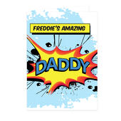 Personalised Super Hero Comic Book Themed Card Add Any Name - Personalise It!